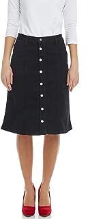 Esteez Women's Denim A-Line Skirt - Button Down Stretch Jean - Chelsea