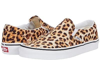 Vans Classic Slip-On ((Leopard) Black/True White) Skate Shoes