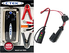 Juice Your Ride Battery Charger Tender Kit for Maserati MC12 - Includes CTEK 7A Charger & Custom Adapter for Maserati (with Indicator)