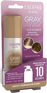 Everpro Gray Away Womens Root Concealer Lt Brn/Med Bld 1.5 Ounce (44ml) (2 Pack)
