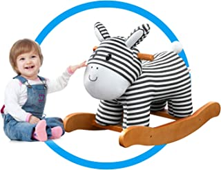 Labebe Child Rocking Horse Toy, Stuffed Animal Rocker Toy, Infant Zebra Rocker Toy for 1-3 Years, Kid Rocking Horse/Zebra Rocking Horse/Toddler Rocking Horse/Rocker Ride Animal/Plush Rocking Horse