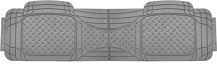 FH Group FH-V11307R010 Semi Custom Trimmable Vinyl Rear Floor Mat Gray for Sedan, SUV and Van