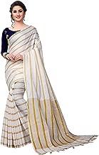 VintFlea Fashion Women's Wedding Party Wear Indian Linen Saree with Blouse Piece