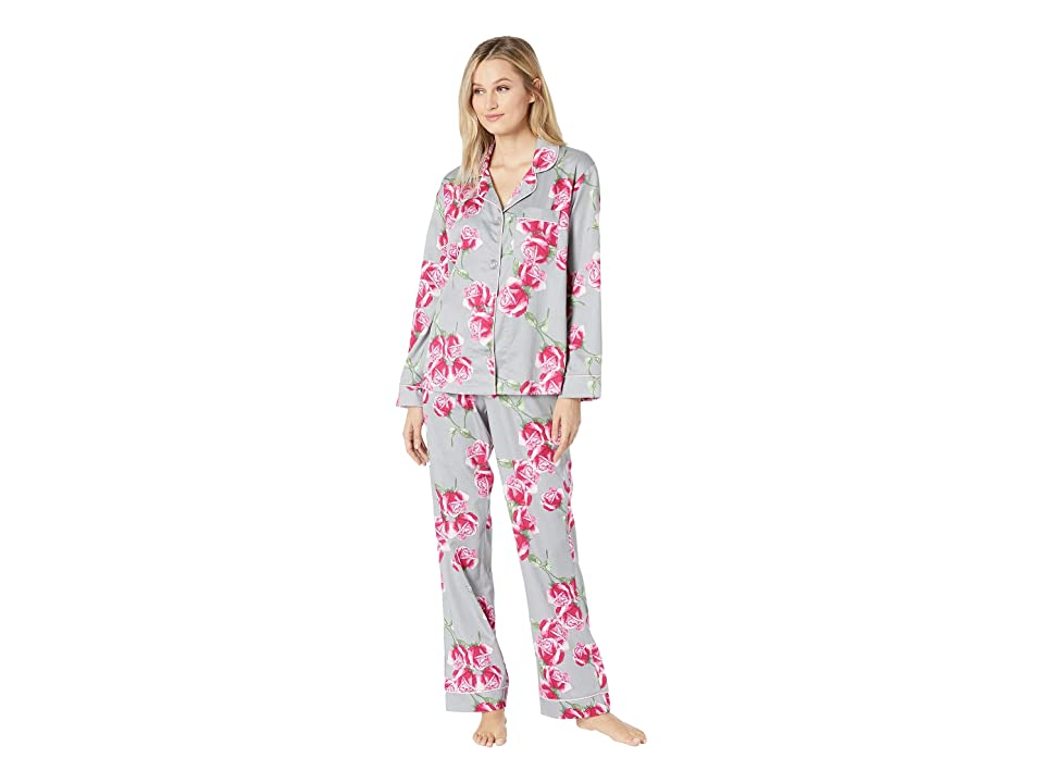 BedHead Long Sleeve Classic Notch Collar Pajama Set (Rosebud) Women