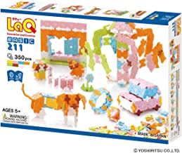 LaQ Basic 211 Pastel - 9 Models, 350 Pieces - Creative Construction Toy