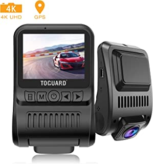 Máy thâu hình đặt trên xe ô tô – TOGUARD Upgraded Dash Cam 4K 3840x2160P GPS Dashboard Dash Camera for Cars 2 inch 170° Wide Angle Vehicle Driving Recorder with Loop Recording Parking Monitor Travelapse White Balance