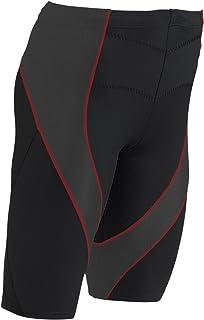 CW-X Men's Pro Shorts (Black/Charcoal Web/Red Stitch