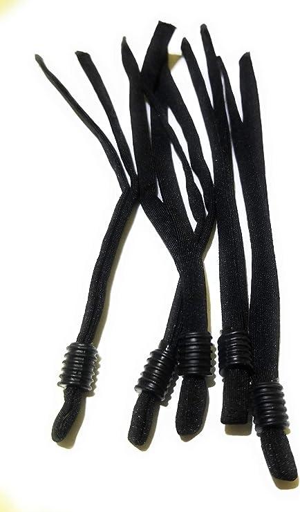SovelyBoFan 100 Pcs Sewing Elastic Band Cord with Adjustable Buckle Stretchy Earloop Lanyard Earmuff Rope DIY Making Supplies