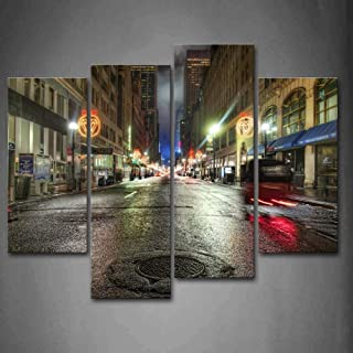 Trapdoor On Road Wall Art Painting Pictures Print On Canvas City The Picture for Home Modern Decoration