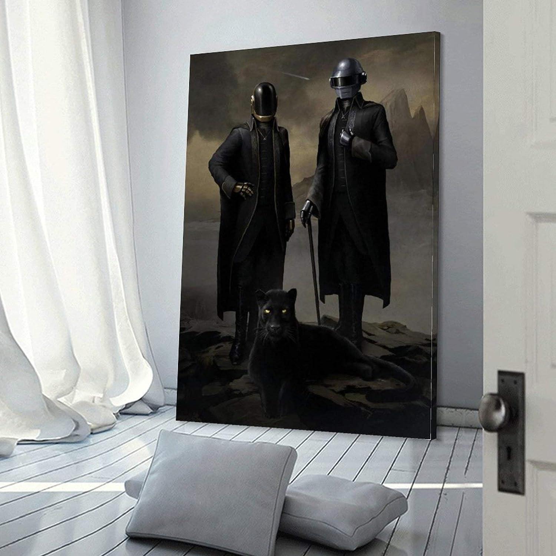 20 x 30 cm impresi/ón moderna jingchang P/óster de Daft Punk Royal en lienzo y arte de pared para decoraci/ón de dormitorio familiar