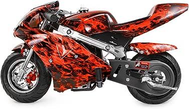 xtremepowerus gas pocket bike motorcycle