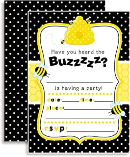 Bumble Bee Birthday Party Invitations, 20 5