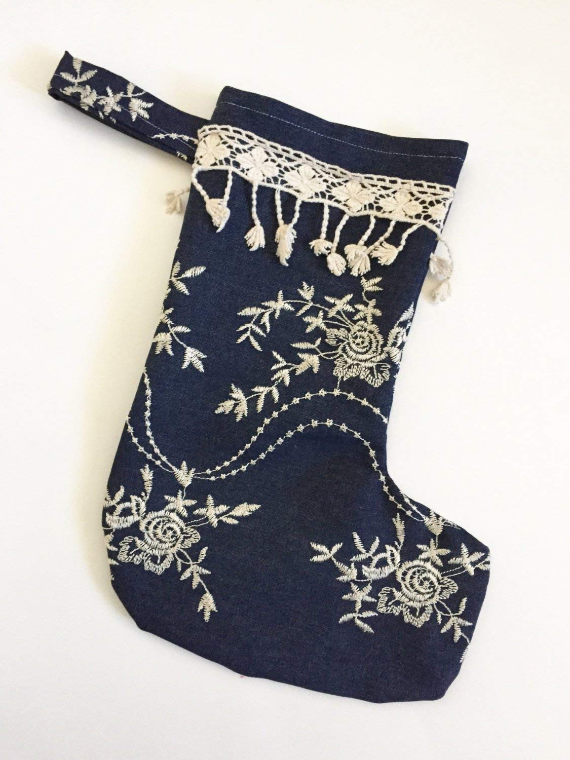 Embroidered Denim 2021 new Boho Holiday Max 76% OFF Stocking
