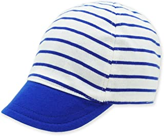 Baby Reversible Baseball Cap Infant Sun Hat, Shell Embroidery Cotton