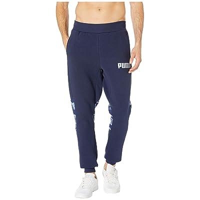 PUMA Camo Foil Fleece Sweatpants (Peacoat) Men