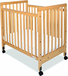 Foundations SafetyCraft Compact Size Slatted Crib, Natural