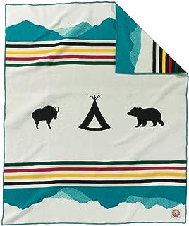 Pendleton Glacier Park 100th Anniversary Wool Blanket, Ivory, Twin
