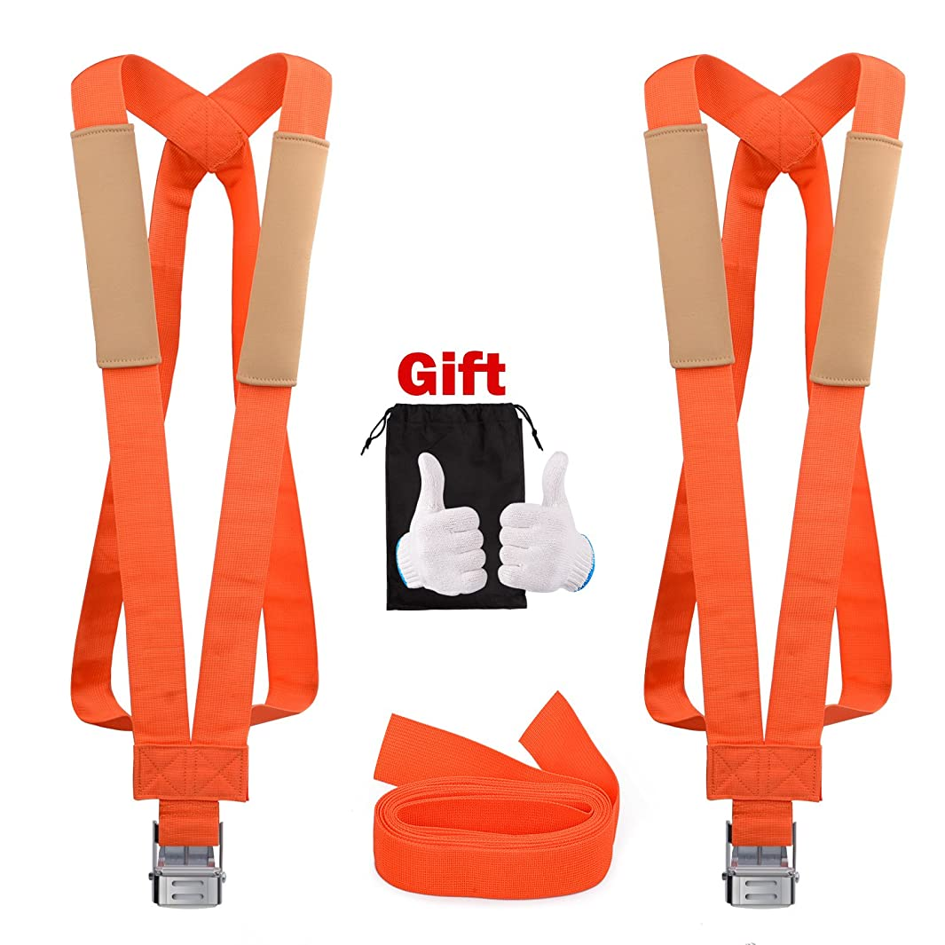 GOOACC moving straps 13Feet Lifting Straps 2 Person Moving Shoulder Harness Lifter Aid with Foam Pad, Carry Bag Max Load 600 Pound