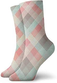 Hunter qiang, Calcetines para mujeres y hombres, sin costuras, diseño de patrones en papel texturizado. Calcetines deportivos geométricos, 30 cm