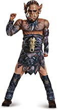 Legendary World of Warcraft Durotan Child Costume Boys Orc Muscle Jumpsuit Mask