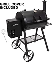 Ivation Automatic Wood Pellet Smoker & Grill | All-in-1 Electric Offset BBQ Smoker w/Digital LCD Precise Temperature Control, Built in Meat Probe, Flame Tamer, Utensil Rack & Grease Bucket