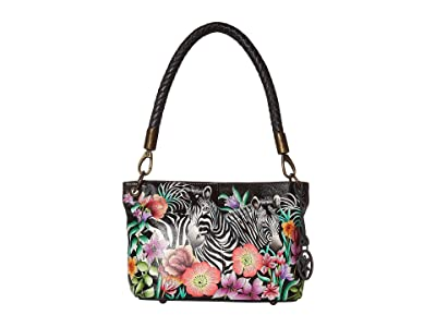 Anuschka Handbags 634 Medium Shoulder Bag (Playful Zebras) Handbags