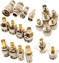 exgoofit SMA to N BNC TNC F Type Connectors Male Female Kits 20 in 1 N to SMA BNC to SMA TNC to SMA RF Adapter