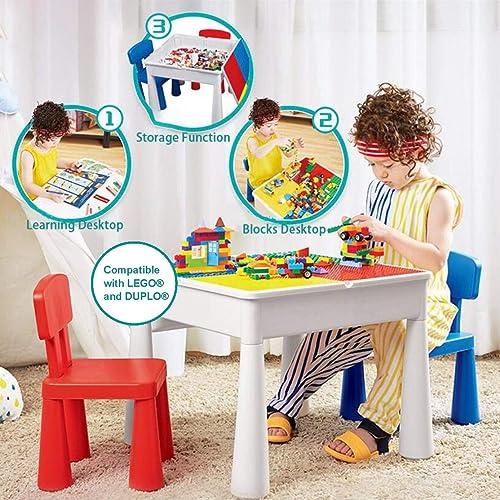 preferente KUBLO Kids Kids Kids - Juego de Mesa y 2 sillas Multiusos 5 en 1 para Construir y Jugar  ahorra 50% -75% de descuento
