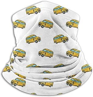 School Bus Soft Fleece Neck Warmer Face Mask