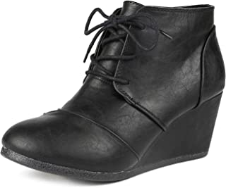 Women's Fashion Casual Outdoor Low Wedge Heel Booties Shoes
