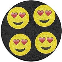 Heart Eyes Emoji Doormat Entrance Mat Floor Mat Rug Indoor/Outdoor/Front Door Mats Non Slip
