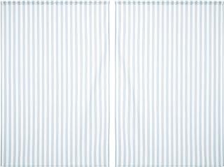 Erenev Çizgili Mavi Fon Perde Seti Sağ+Sol Kanat 270cm 1790AM53270