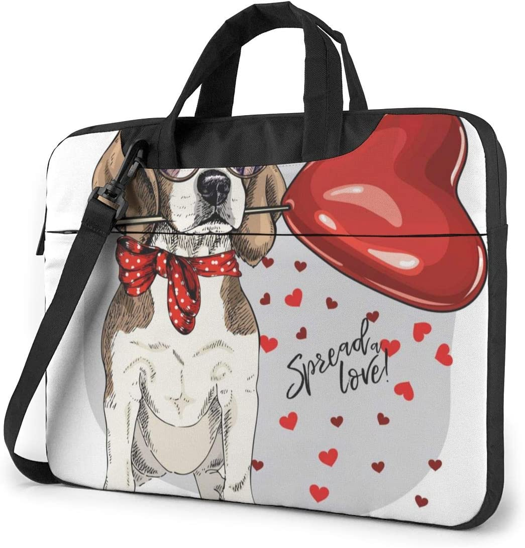 Cute Colorful Dog Laptop Case 14 Inch Carrying Case with Strap