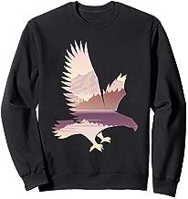 Eagle Unique Patterned Landscape Wildlife Gift Sweatshirt