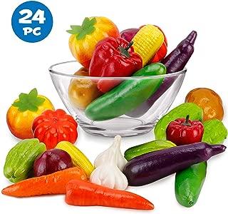 Liberty Imports Set of 24 Realistic Artificial Foam Decor Faux Vegetables Decorative Food Set