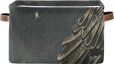ALALAL Paniers rectangulaires à étagère cubique Corbeau Noir dans Un Bateau à la rivière Boîte organisatrice de Nuit Magiq...
