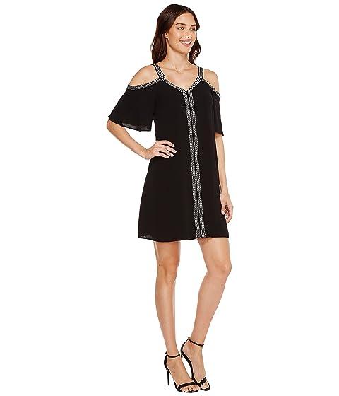 Dress Sleeve Trim Shouler Short w Camuto Vince Cold Ribbon 6gwCf4R
