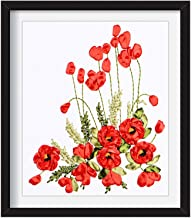 DIY Embroidery Ribbons Flowers Decorative Paintings Needlework Cross Stitch Kits for Beginner Sewing Crafts Home Decor,4050cm