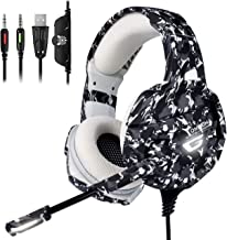 Xbox One Gaming Headset - ONIKUMA Gaming Headset with 7.1 Surround Sound, PS4 Headset with Noise Canceling Earpads & Mic, Soft Memory Earmuff for Xbox One PS4 Controller PS2 Nintendo Switch