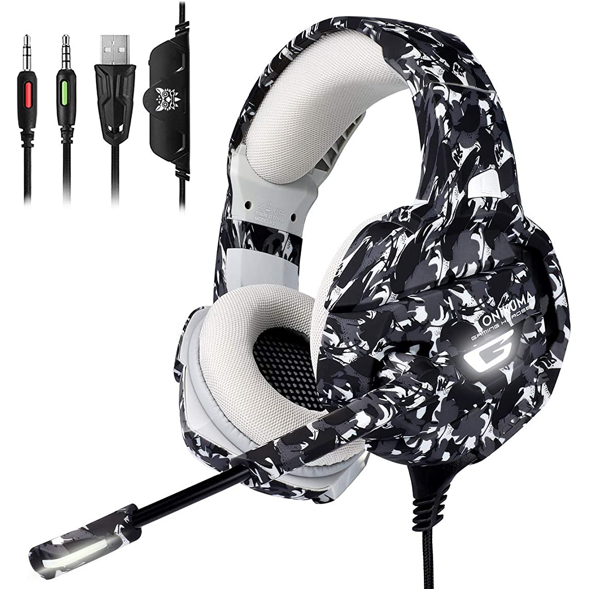 Xbox One Gaming Headset, PS4 Headset with 7.1 Surround Sound,?Noise Canceling Over-Ear Headphones with Mic, Soft Memory Earmuff for PS4, PC, Xbox One