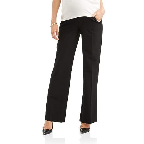77ec7d4a471e0 Times Two Maternity Women's Flare Leg Dress Pants