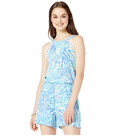 Lilly Pulitzer Lala Romper (Blue Haven Hey Hey Soleil) Women