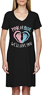 pink or blue we love you maternity shirt