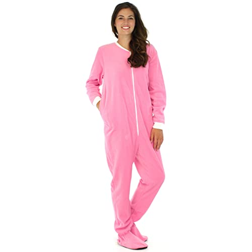 9fb16db6ee PajamaMania Women s Sleepwear Fleece Footed Onesie Pajamas