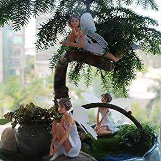 BangBangDa Miniature Fairy Garden Accessories - Small Fairy Figurines Decorations(4PCS)