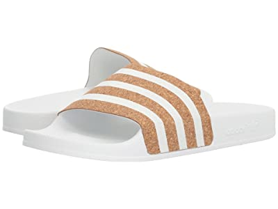 adidas Adilette (Footwear White/Footwear White/Supplier Colour) Women