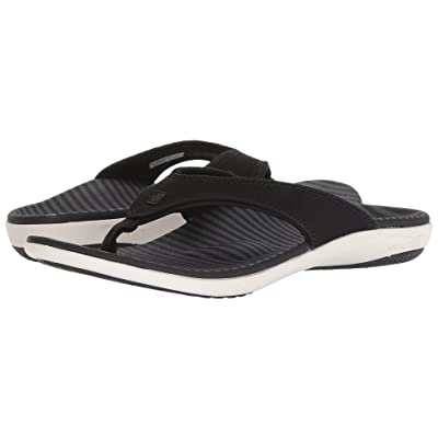 Spenco Yumi Canvas Stripe Sandal (Black) Women