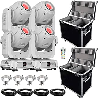 (4) Chauvet DJ Intimidator Spot 360 100 Watt Feature-Packed White Moving Heads with IRC-6 Infrared Remote Control Package