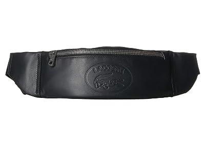 Lacoste L.12.12 Cuir Casual Waist Bag (Black) Bags