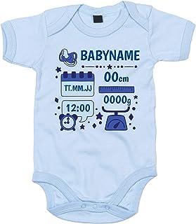shirtdepartment Baby Body - Personalisiertes Geschenk zur Geburt - Jungen